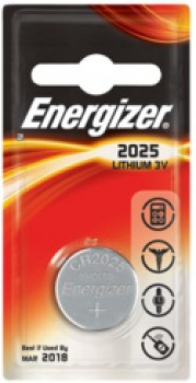 ENERGIZER CR2025, 3V Lithium-Knopfzelle