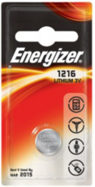 ENERGIZER CR1216, 3V Lithium-Knopfzelle