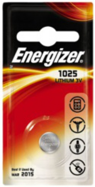 ENERGIZER CR1025, 3V Lithium-Knopfzelle