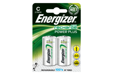 ENERGIZER RECHARGE POWER PLUS C, 1,2V, 2500mAh (HR14) NiMH-Akku, 2er-Blister