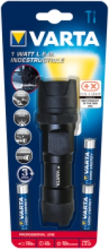VARTA LED-Taschenlampe Varta Indestructible, inkl. 3 x AAA-Batterien, 155lm