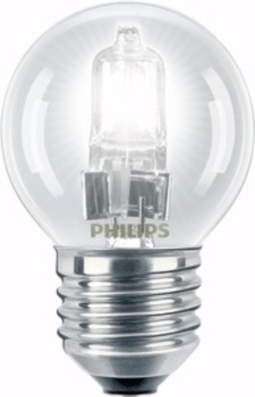 philips ecoclassic p45 zier halogen klar 230v 28w 35w e27 370lm. Black Bedroom Furniture Sets. Home Design Ideas